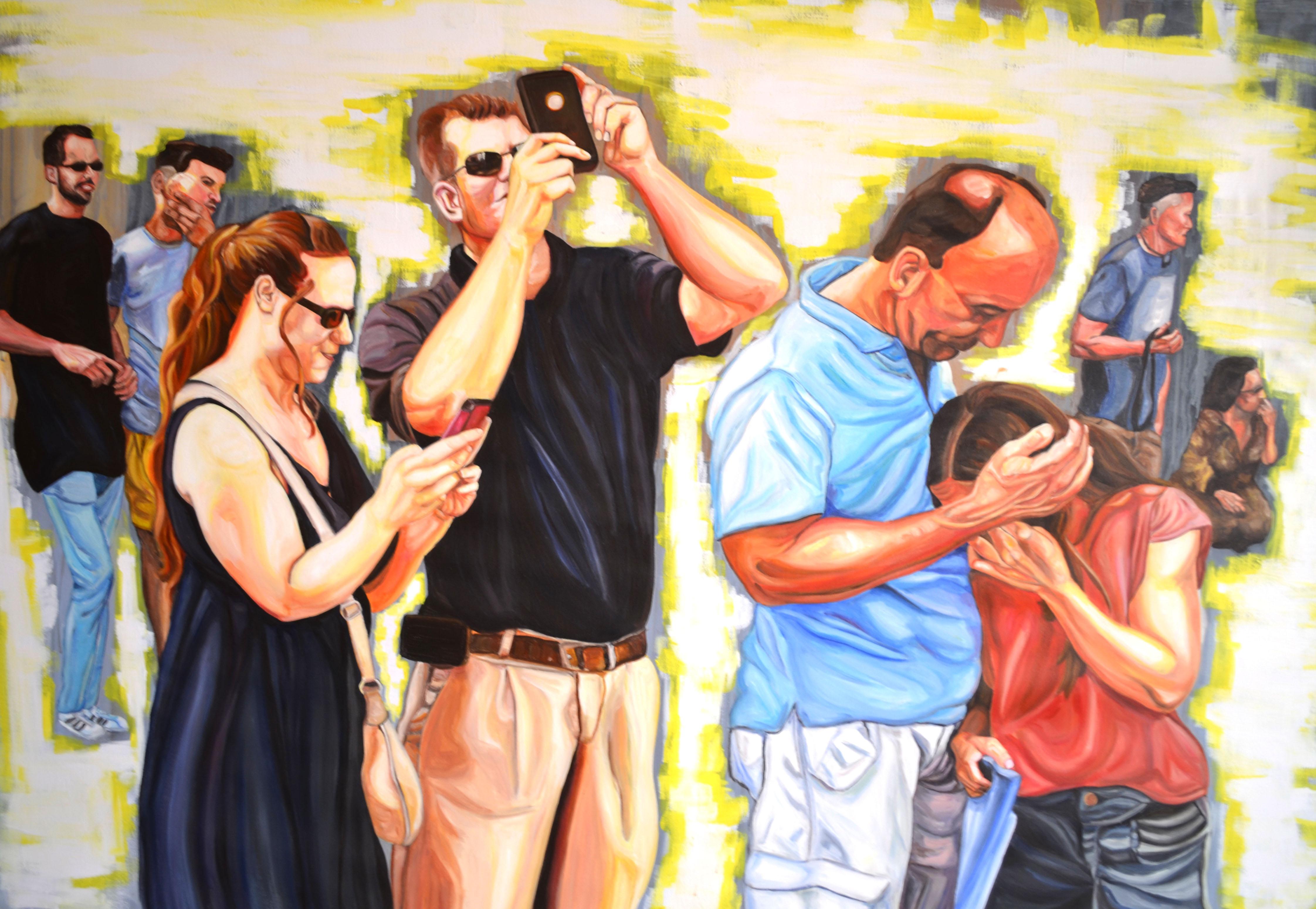 2016 mental busy 145 x 100 cm