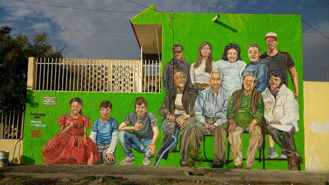 "Mural as part of the project ""La Brigada"" of FEU of U de G (Universidad de Guadalajara)"