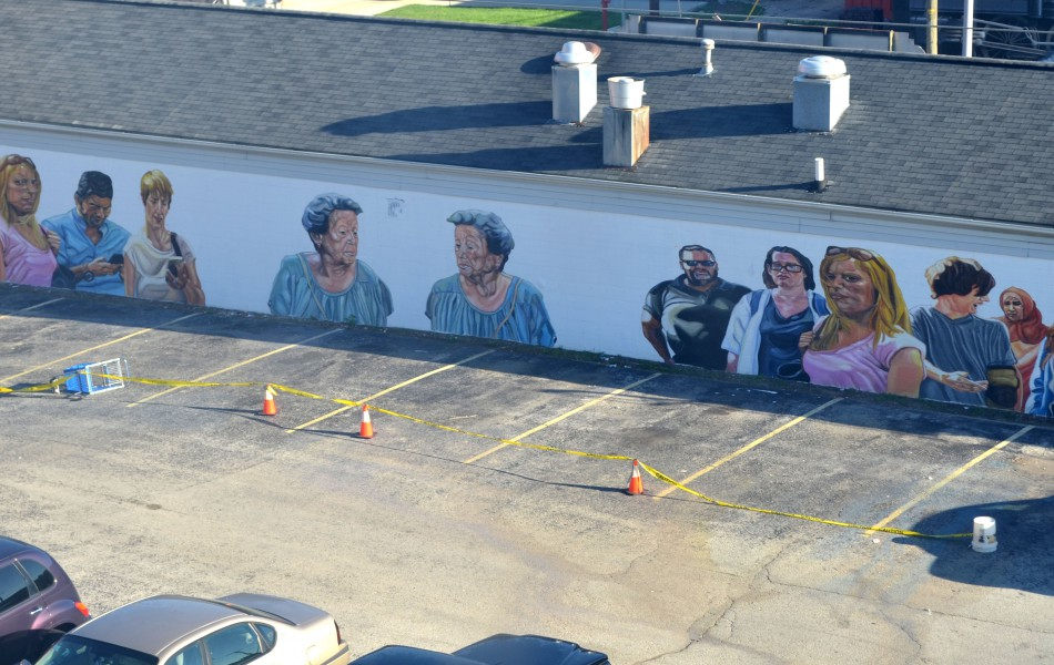 Modern murals to make reflect about modern and social issues - Jupiterfab - Richmond Indiana