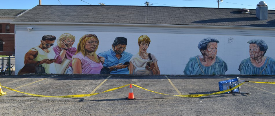Modern murals to make reflect about modern and social issues -Jupiterfab - Richmond Indiana
