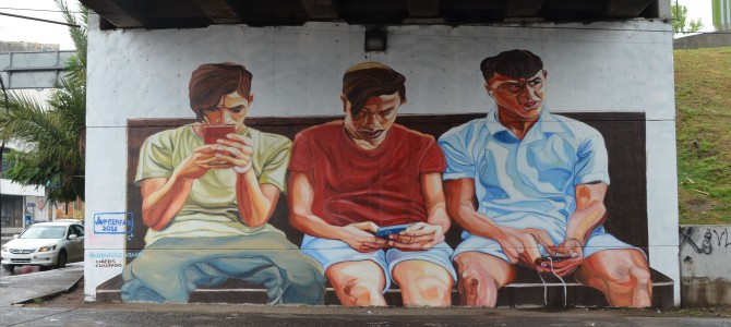 Art about mobile addiction – Murals