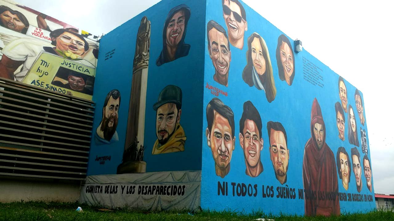 2019 - Guadalajara - Mural Desaparecidos for FEU University of Guadalajara
