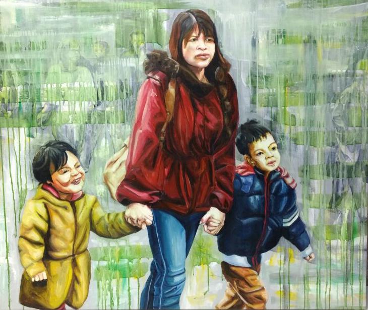 2015 My sons, 145 x 100 cm
